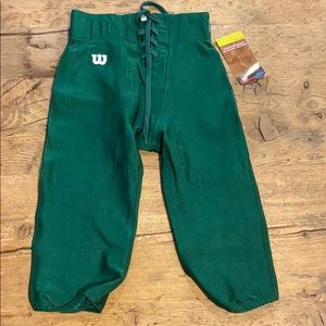 WILSON YOUTH DARK GREEN FOOTBALL PANTS LACE UP M